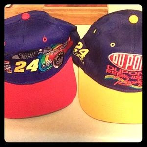 2 vintage Jeff Gordan hats both made by Chase